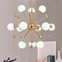 Vintage Gold Round Bubble LED pendant Lamp Lighting Fixture Modern Lustre Pendant lights for dining room G4 bulb glass pendant