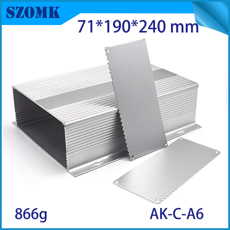 szomk anodizing wall mounting aluminum case box (10pcs) silvery electronics aluminum control enclosure for pcb 71*190*240mm 1 piece free shipping szomk diy wall mount plastic box abs card reader enclosure screen case lcd case rfid