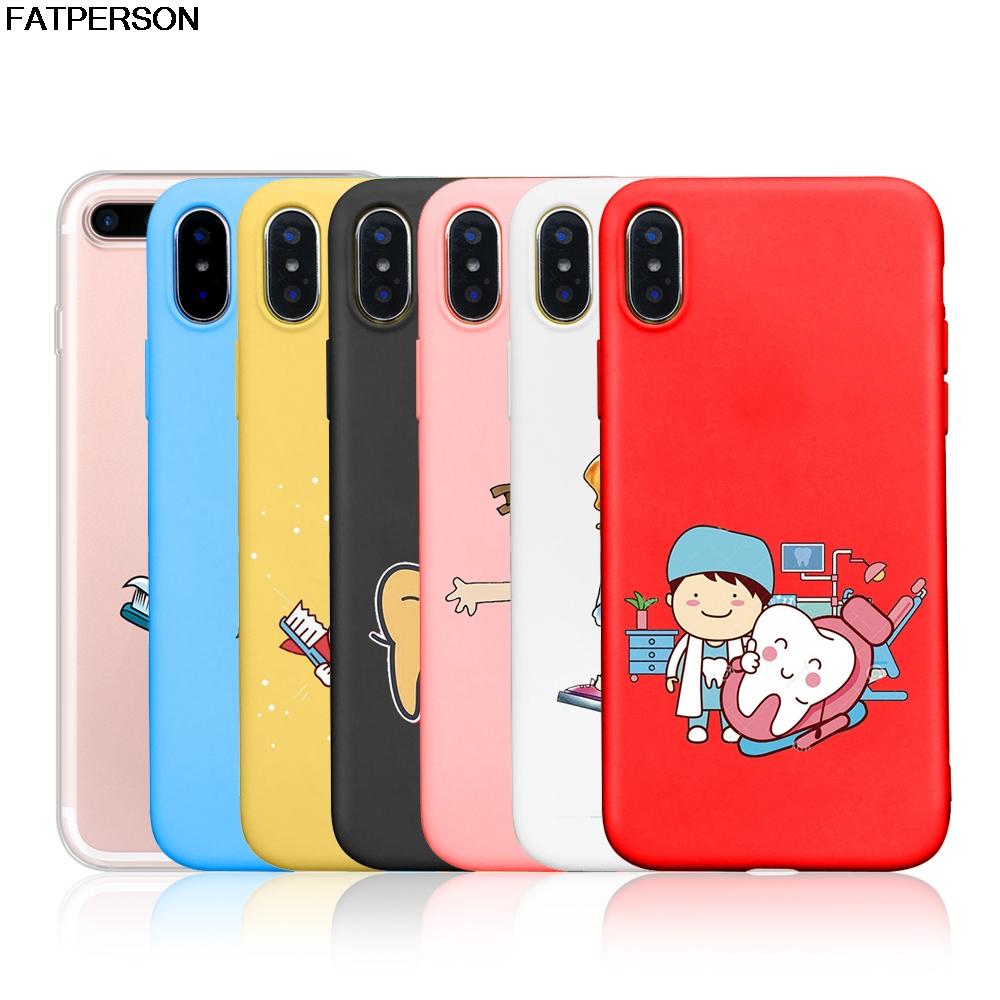 Sweet-Tempered Tempered Glass Case Nurse Doctor Dentist Stethoscope Tooth Injections Cover For Iphone X 6 6s 7 8 Plus Xs Xr Max 5 5s Se Cellphones & Telecommunications