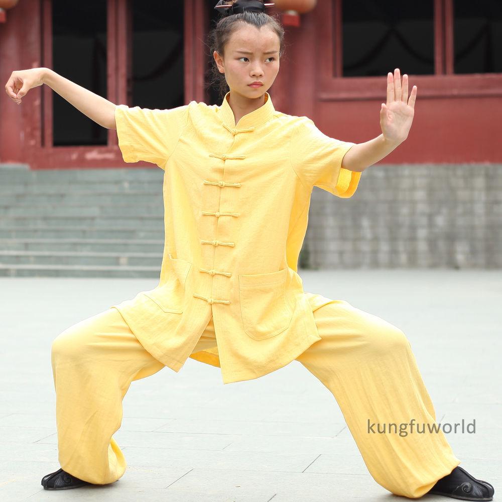 24 Farben Wudang Taoist Frauen Kurzarm Sommer Tai Chi Uniformen - Sportbekleidung und Accessoires - Foto 3