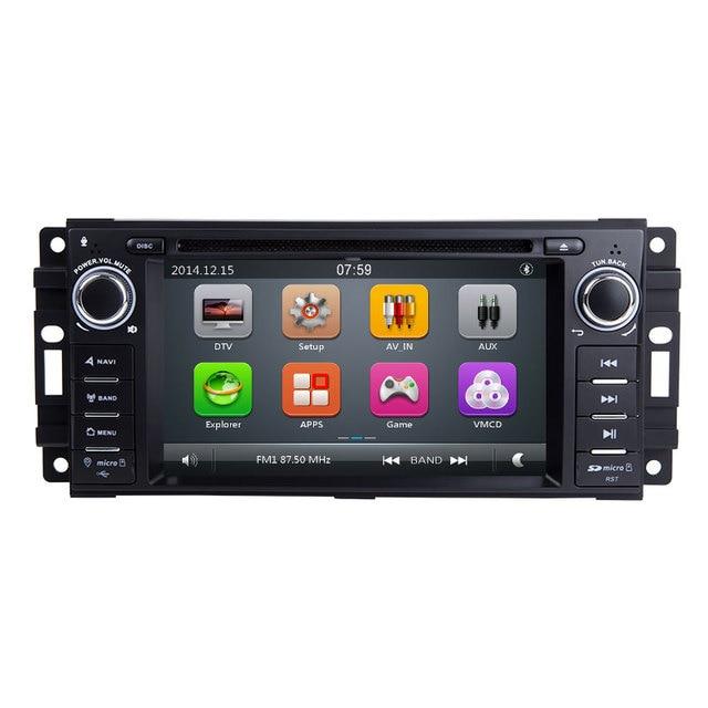 Xonrich AutoRadio 1 Din Car DVD Player For Chrysler 300c Jeep Grand Cherokee Compass Dodge RAM Wrangle GPS Head Unit Multimedia