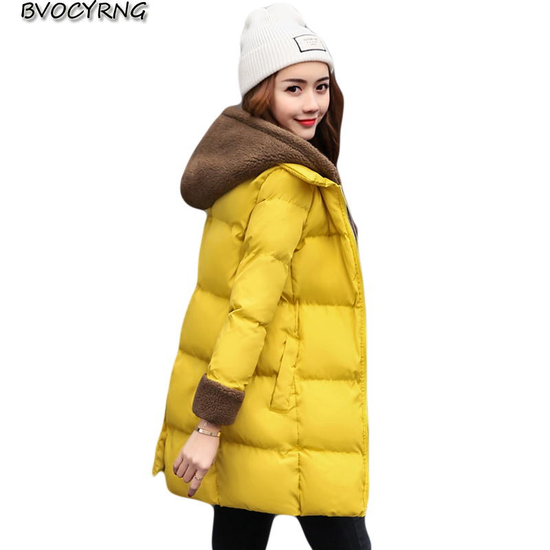 2017New Winter Jacket Women Female Parka High Quality Down Cotton Winter Coat Long Thick Jackets girls Loose Wadded Jacket Q993 winter jacket women high quality single breasted cotton padded coat parkas female wadded medium long parka girls outerwear
