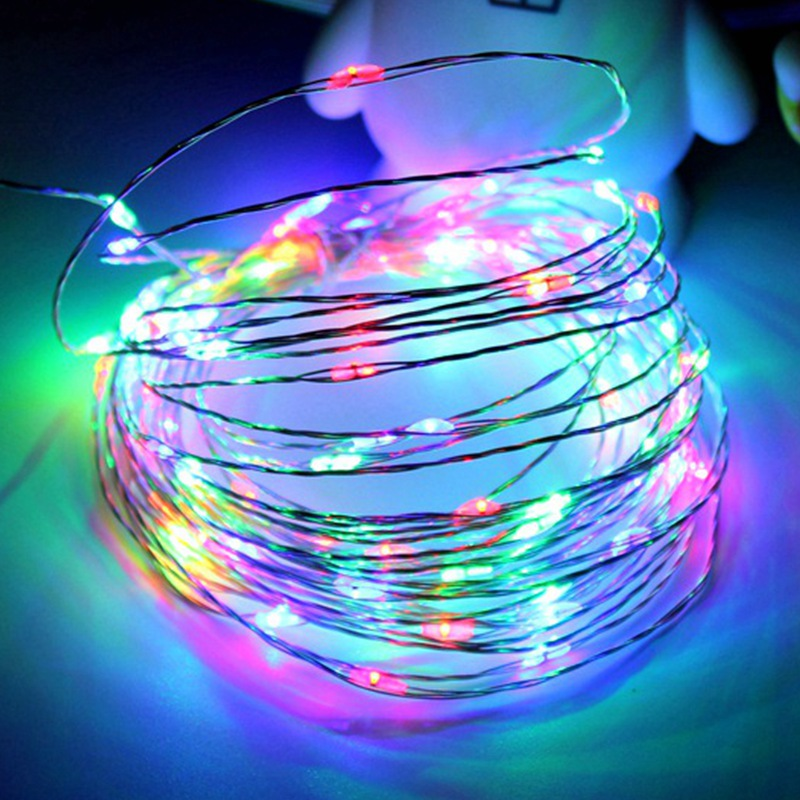 5m 165ft 12v dc powered waterproof christmas light copper wire led string light wedding for xmas garland party fairy lam in lighting strings from lights