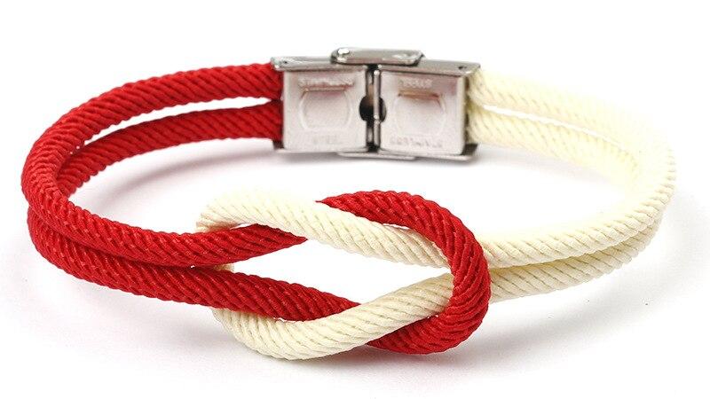 Nautical Sailor Marine Rope Knot Bracelet Bangle Wristband Friendship  Bracelets for Boy Girl Women Men Fashion Jewelry Favors
