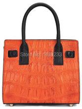 100% Genuine Crocodile Skin Leather  Women Handbag, Shoulder, Tote Bag Alligator skin Leather  +Free Shipping
