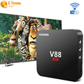 2016 RK3229 V88 4 K Smart TV Caja 1G/8G USB 4 10-bit 60fps WiFi Android 5.1 Tv Box Quad Core 1.5 GHZ HDMI 2.0 Smart TV Media Player
