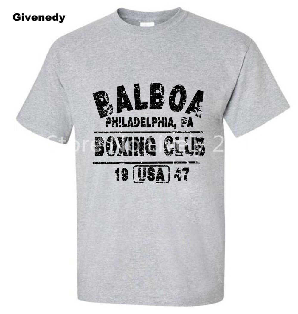 BALBOA CLUB ROCKY Movie Philly Retro Set font b Men s b font Custom Tee font