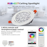 MiLight 2 4G 9W RGB CCT LED Ceiling Lamp Dimmable LED Ceiling Spotlight Round Reccessed Light