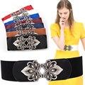 Cintura Elástico Na Cintura Correia Da Senhora Saia Vestido feminino Cinto Moda Cintura Cadeia de Cintura Das Mulheres de Alta Qualidade Fivela B-3562