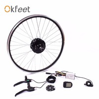 Okfeet 36V 250W hub motor Electric Bike Kit for 26 27.5 28 700C Front wheel motor Electric conversion kit LCD CE
