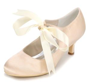 2fec669614 Creativesugar Elegant closed toe ribbon tie mary jane vintage woman kitten  heel evening dress shoes bridal wedding party prom