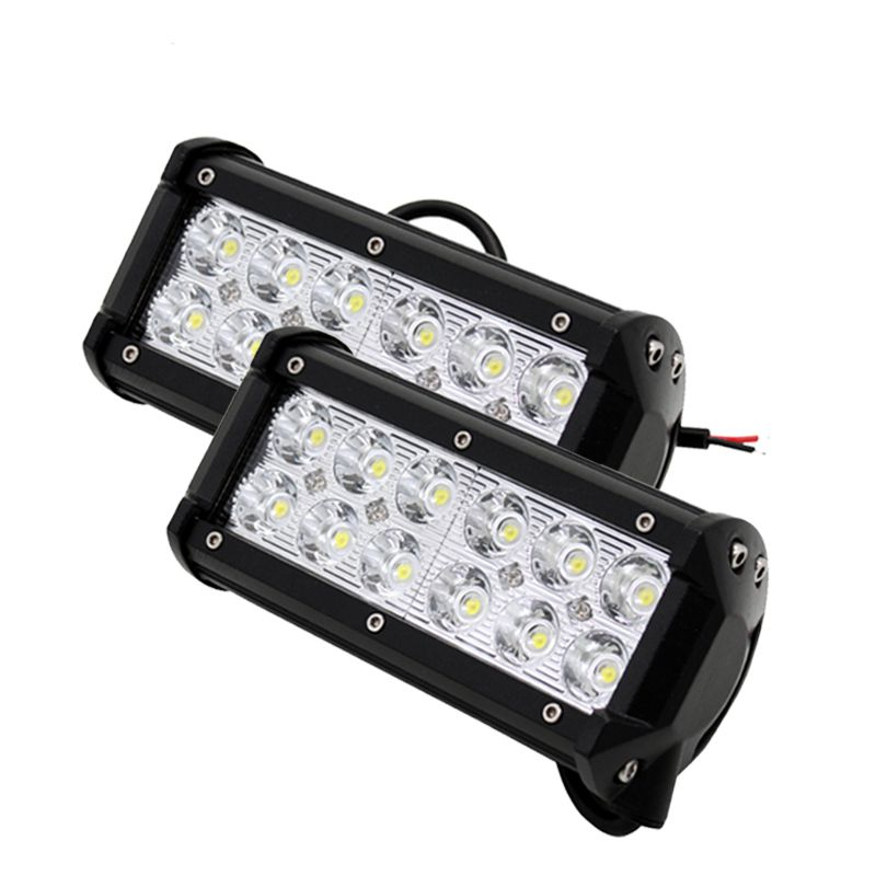 2Pcs/Pair 36W 12 x 3W Car LED Bar Light as Square Working Light Spot Light for Boating Hunting Fishing Car Styling Light