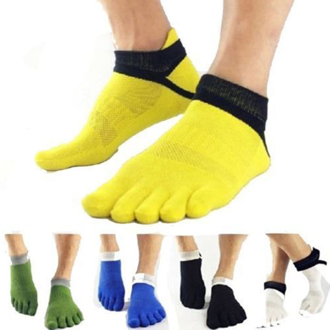 Hot Sale 1 Pairs Silicone Boat Five Finger Socks Women Nonslip Compression Sock Men Low Cut No Show Christmas Socks Breathable