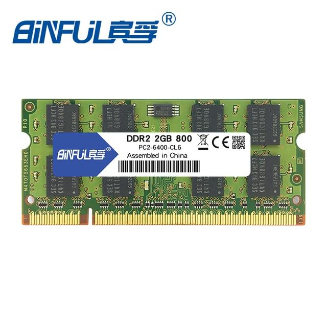 Binful 4 Гб (2x2 GB) DDR2 PC2-5300 667 МГц PC2-6400 800 МГц 4 Гб (комплект из 2,2X2 ГБ для двухканальный) оперативной памяти ноутбука Тетрадь 1