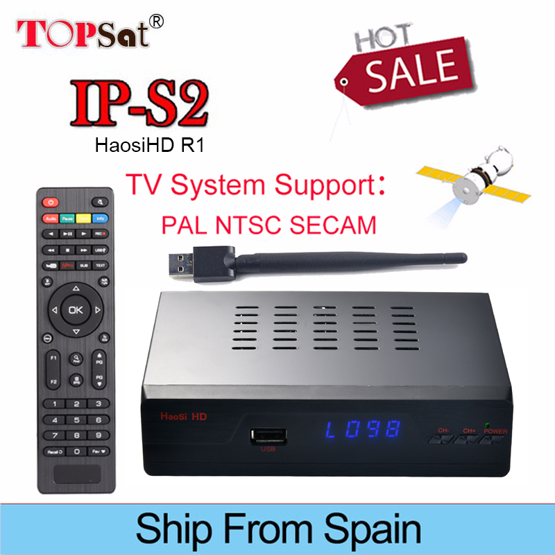 DVB-S2 IPS2 HaosiHD R1 Satellite Receiver Full HD receptor suooprt 1 Year Europe Best HD IPTV 2000+ Channels and Europe clines best hd iptv box ips2 plus dvb s2 tv receiver 1 year europe iptv 2500 channels dvb s2 usb wifi set top box satellite receiver