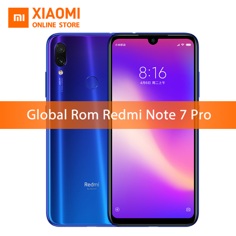 Global ROM Xiaomi Redmi Note 7 Pro 6GB 128GB Snapdragon 675 Mobile Phone Octa Core 4000mAh 6.3