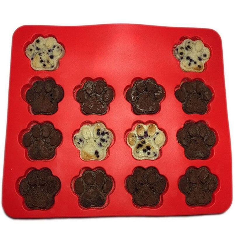 Для выпечки тортов с помадной начинкой декоративная форма набор 2 шт., для пищевых продуктов щенки собачьи лапки Кости силиконовые формы для выпечки торта Biscuit30MA20