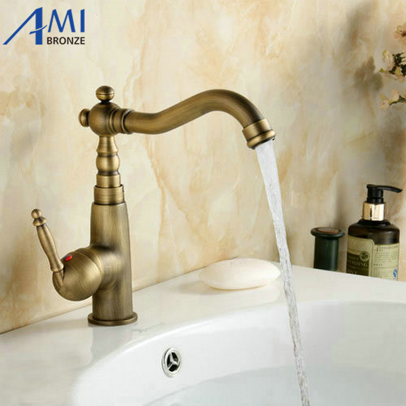 Kitchen Swivel Brass Faucets Bathroom Faucet Sink Basin Mixer Tap ...