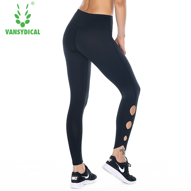 Women Elastic Long Pants Fitness Yoga Leggings Outdoor Sports Pants Sexy Lady Breathable Running Pants 2018 New Arrival
