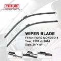 "Wiper Blade for FORD MONDEO 4 (2007-2014) 1 set 26""+19"",Flat Aero Windscreen Wiper,Boneless Windshield Soft Frameless Blades"