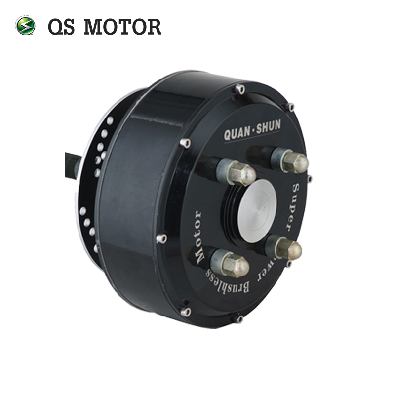 QS Motor 2000W 205 45H V2 Brushless DC Gearless Electric Car In Wheel Hub Motor image