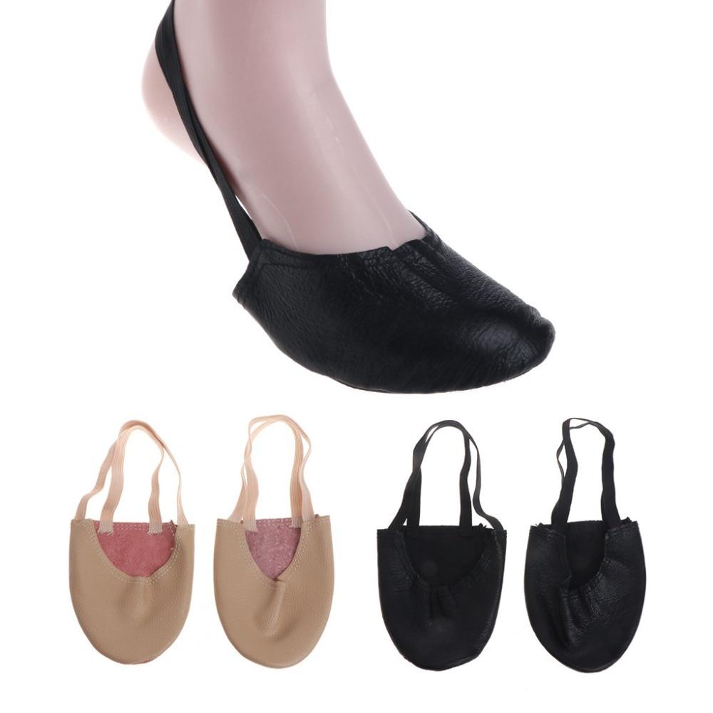 Basic Half Sole Stretch Slip-on Women's Lyrical Dance Shoe Girls Soft Ballet Toe Shoes Belly Dancing Shoes Wholesale