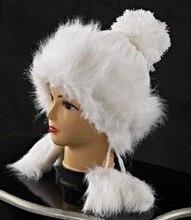 Зимняя шапка женщины 2015 популярные новинка трикотажные искусственного меховая шапка