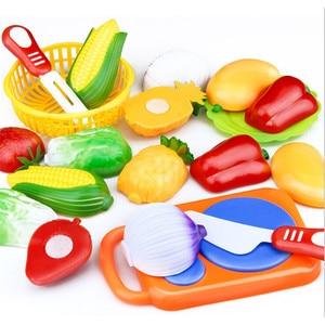 Image 2 - Nowy 1 zestaw bezpieczne dzieci bawią się zabawka domowa plastikowe zabawki w kształcie jedzenia wyciąć owoce warzywa kuchnia dziecko dzieci udawaj zagraj w zabawki edukacyjne