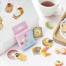 Купить с кэшбэком 46pcs/box Remember to eat breakfast creative sticker diy hand gift bag sealing decoration adhesive tape Diary stationery sticker