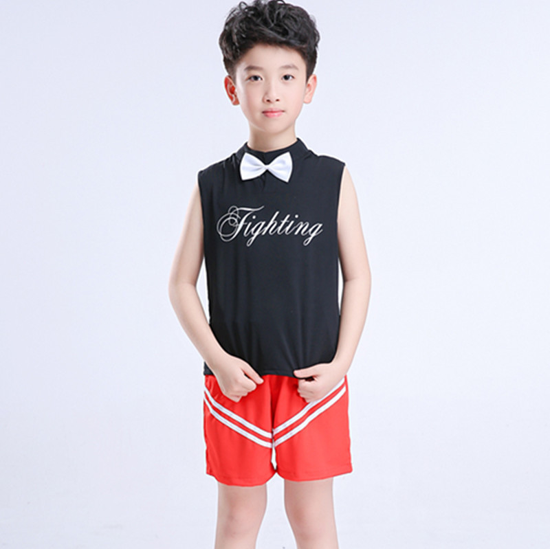 Children Performance Cheerleader Costume Girls Boys Cheer Uniform Kids Competition Cheerleaders School Cheer Team Uniforms Kids