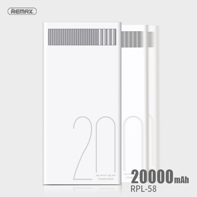 Remax 20000mAh Dual USB Power Bank with LED Indicator Portable External Battery 5V 2.4A Powerbank for Xiaomi Samsung Tablets