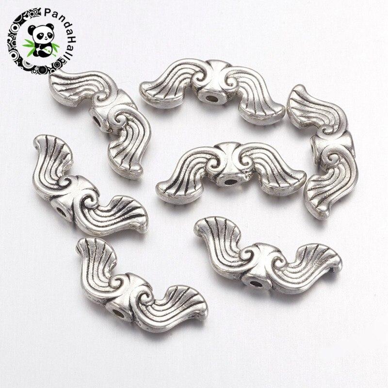 100 pcs plastic moustache beads assorted colours 20mm