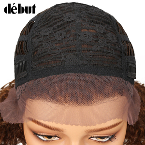 Image 3 - Debut Lace Front Human Hair Wigs Kinky Curly Wig Human Hair Short Bob Wigs For Black Women Wet And Wavy Curly Wigs Free Shipping