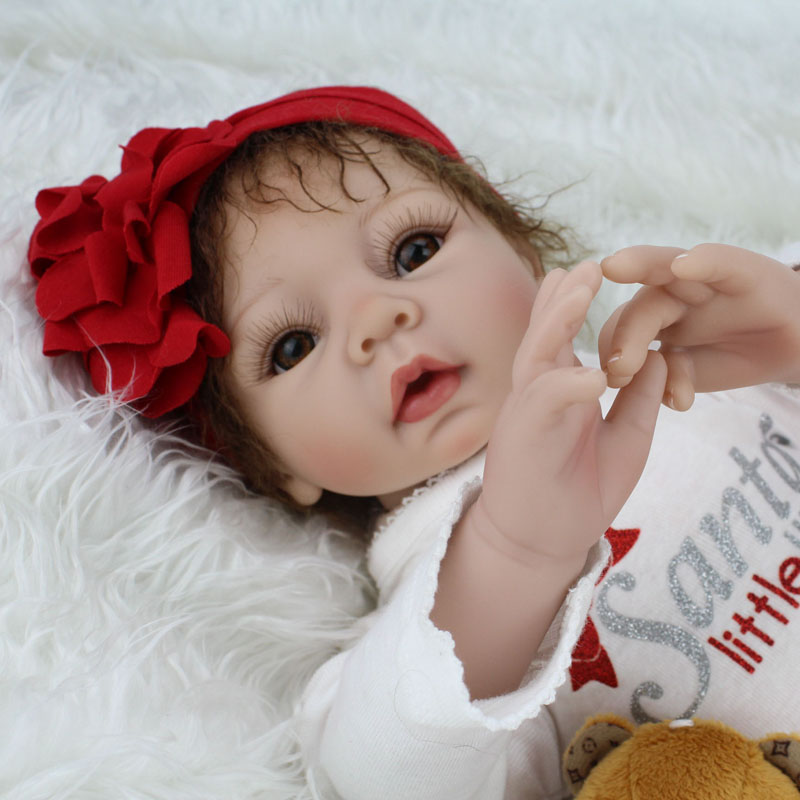 22 inches Doll Reborn For Sale Soft Toys Silicone Reborn Babies Girls Play House Toys Lifelike