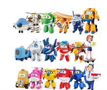 13 estilos Mais Novo Super Asas brinquedos 7 cmTransformation Robô Aviões Mini Figuras de Ação brinquedos brinquedos Para As Crianças Brinquedos Do Presente do bebê
