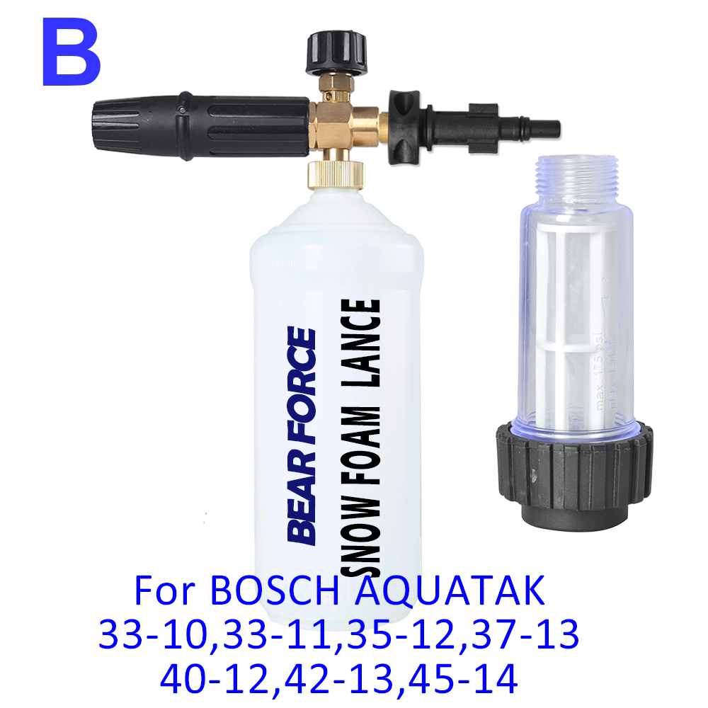 Foam Nozzle/ Snow Foam Lance & Water Filter for Bosche AQT 33-10, 33-11, 35-12, 37-13, 40-12, 42-13, 45-14 High Pressure Washer