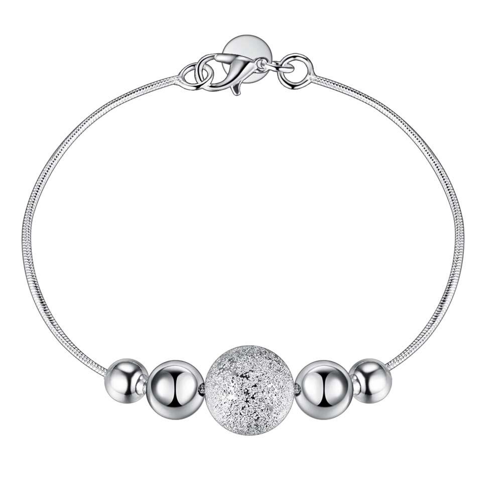 Акция, низкая цена, GY AH019, оптовая продажа, посеребренный браслет, цепочка, модные ювелирные изделия, капельные бусы, браслет на День святого Валентина|bracelet chain|bead braceletsilver plated bracelet | АлиЭкспресс