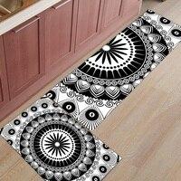 2 Piece Kitchen Mats and Rugs Set Modern Mandala Pattern Home Deocr Non Skid Area Runner Doormats Carpet