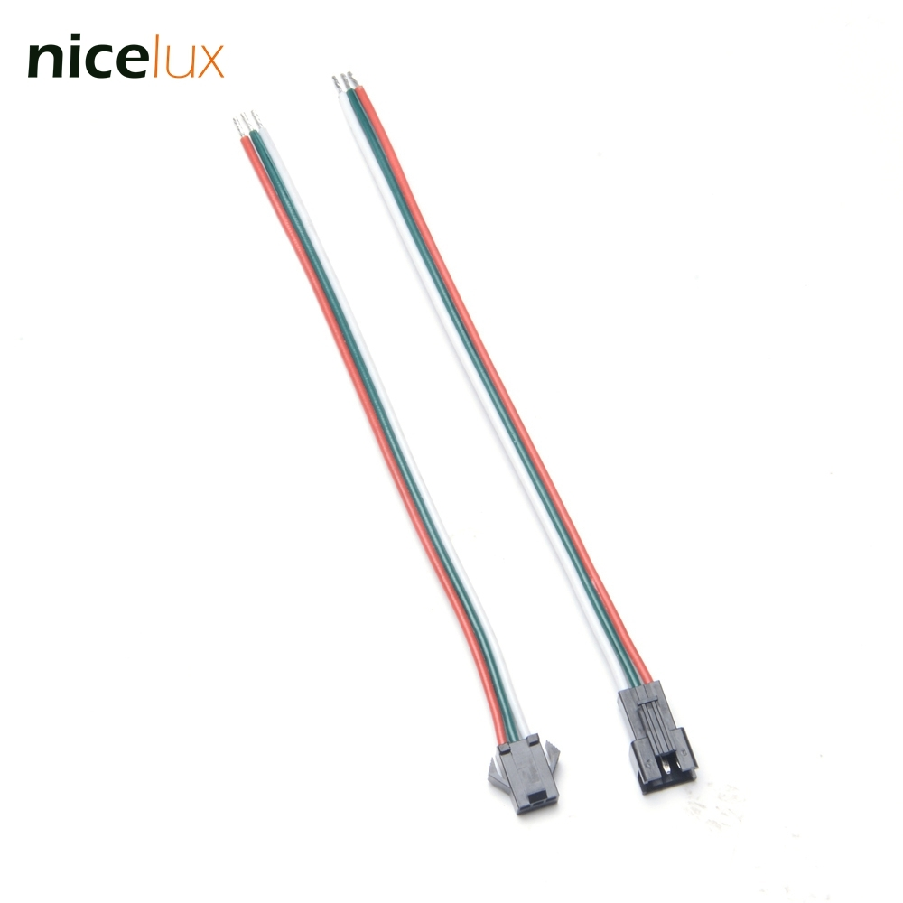 10pairs 3 Pin 20awg Wire Jst Connector Male Female Plug