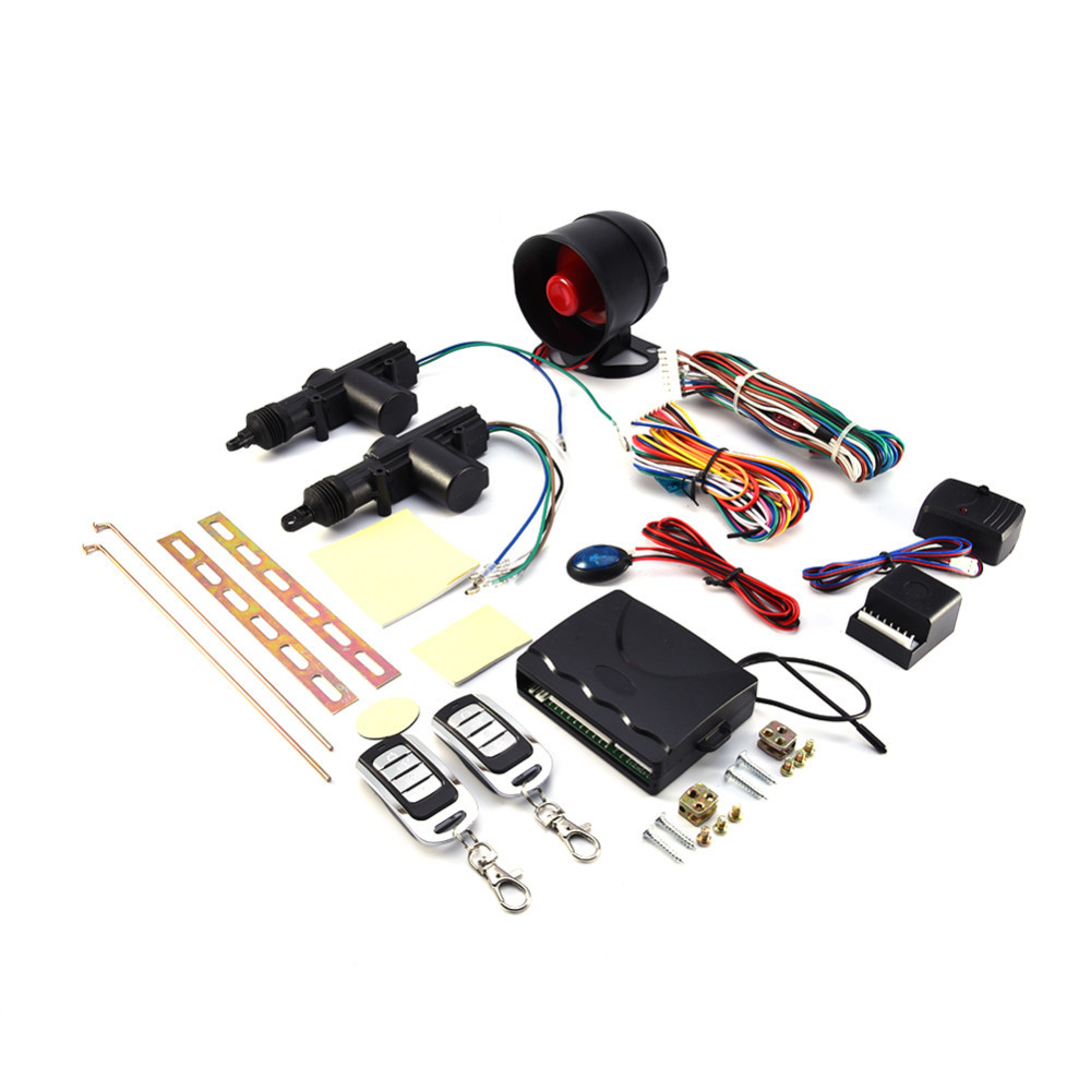 Automobiles & Motorcycles 2 Car Door Alarm System Protection Security Remote Central Locking Kit Shock Sensor Anti-theft Alarm Tool Set Alarm Systems & Security