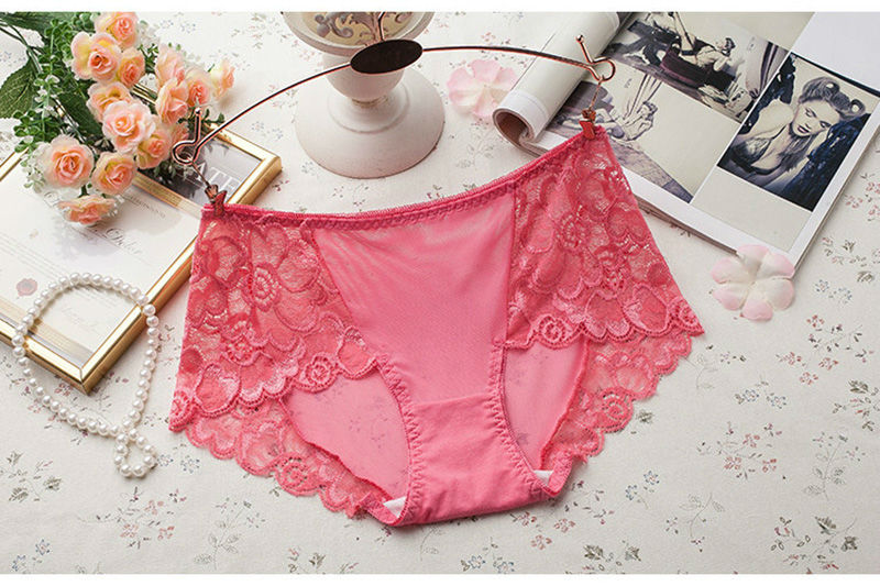 Women's Underwear, Sexy Lace Panties, Hollow Out Briefs, Mid Rise, Female Lingerie Underpants 31