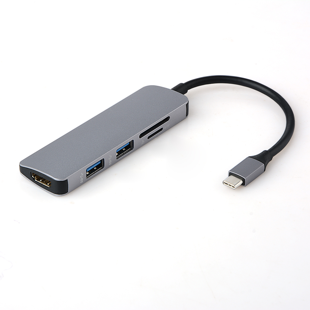 5 in1 USB C HUB USB-C a HDMI Micro SD/TF Card Reader Adapter per MacBook Samsung Galaxy S9 /S8 Huawei P20 Pro di Tipo C USB 3.0 HUB