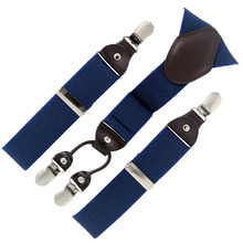 2015 new man suspenders fashion braces Adjustable 4 Clip-on Mens Gift Bridegroom/Wedding apparel accessories