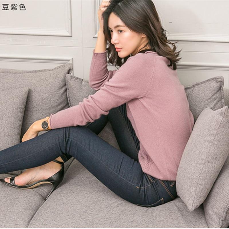 Wysokiej jakości 100% czystego kaszmiru kobiet swetry i pulowery miękkie ciepłe kaszmiru sweter wokół szyi sweter z dzianiny dla kobiet w Pulowery od Odzież damska na  Grupa 2