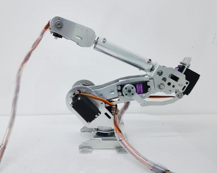 DLT710 Robot Arm 7-Axis 7 Dof Manipulator Industrial Educational Robot Arm + 7Servos 6 dof robot arm six axis manipulators industrial robot model robot without controller mg996r