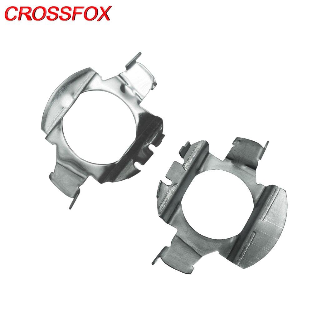 CROSSFOX 1 Pair Universal Automobile Car Headlights Bulbs LED H7 LED Kits Adaptors Base Sockets Special Use For Nissan Buick VW