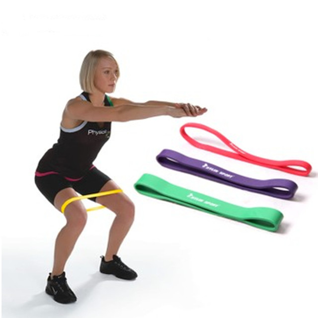 Exercise Bands Names: Latex Athletic Rubber Bands Fitness Resistance Band Yoga