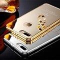 Ultra fino de metal moldura de alumínio acrílico tampa traseira case para iphone 7 6 6 s mais bateria do telefone da habitação case para iphone 5s 5 se