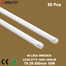 Led Light T8 Led 2ft 600mm Led Tube Lighting Lights Lamp 10W Energy Saving Tube With Clear/Milky Cover 4500K 6500K 3500k
