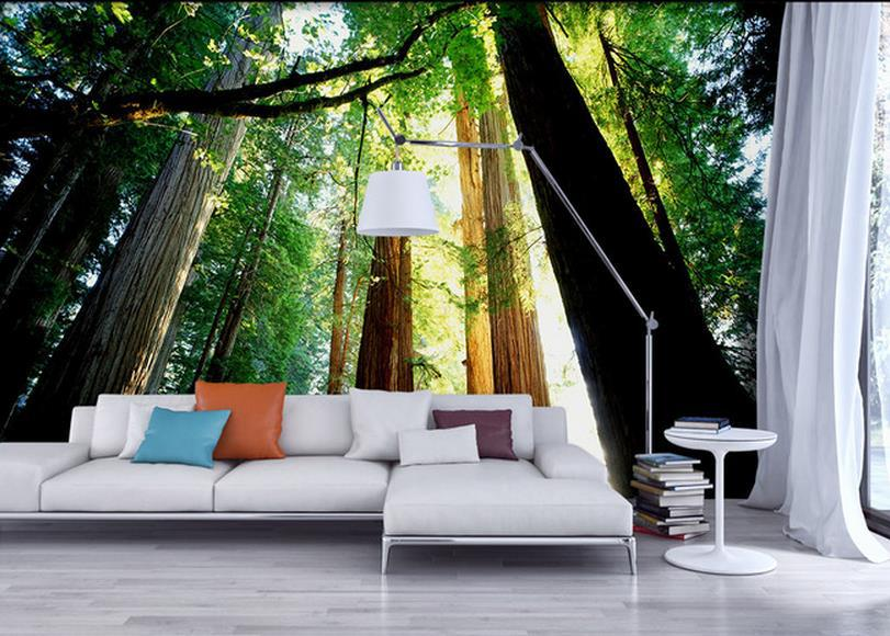 Perfect Modern 3d Wall Murals Wallpaper , Photo Green HD Forest Landscape Mural For  Tv Sofa Background Wall Papel De Parede In Wallpapers From Home Improvement  On ... Part 20